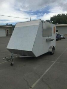 Lightweight 7 X 15 Street Food Concession Trailer Used Mobile Food Vending U