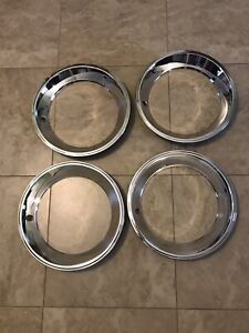 Amc Javelin Amx 15 Replacement Style Rally Wheel Trim Ring Set