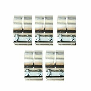5x 4 Stainless Steel Lap Joint Exhaust Band Clamp For Catback Manifolds T304