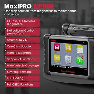 Autel Obdii Scanner High End Diagnostic Auto Scan Tool Mp808 As Maxisys Ms906bt
