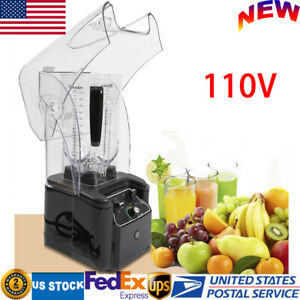 2 2l Commercial Electric Soundproof Cover Blender Mixer Smoothie Maker 2 2kw Usa