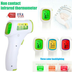 No Touch Infrared Digital Body Forehead Thermometer Gun f c For Adults Baby Us