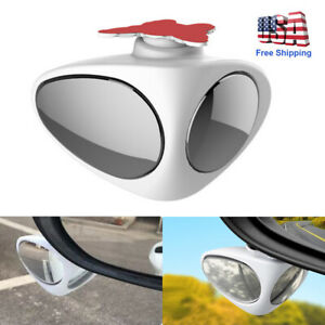 2 In 1 Car Blind Spot Mirror Wide Angle Rear View Mirror 360 convex Accessories