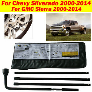Replacement Lug Wrench Jack Spare Tire Tool Kit For Chevy Silverado 1500 2500 Hd