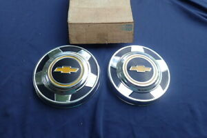 1973 87 Chevy Pick Up Truck Hub Caps Pair Nos Wheel Covers