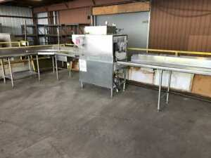 Hobart C44a Ss Restaurant Commercial Kitchen Dish Washer Large Sink Table