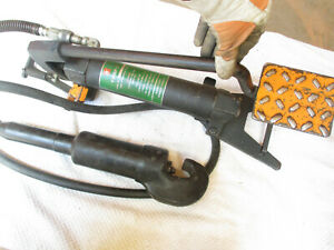 Burndy Hydraulic Crimper Crimping Tool With Foot Pump Y34bp 2 Y34b