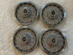 1970s 90s 14 Buick Wire Hubcaps Wheel Covers Gm Set Of 4 Excellent Rare Style