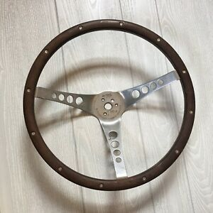 Vintage 1960s The 500 Superior Performance Wood Steering Wheel
