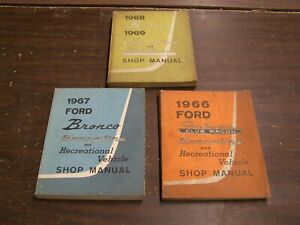 Original 1966 1967 1968 Ford Shop Manual Book Econoline Bronco Manuals Books