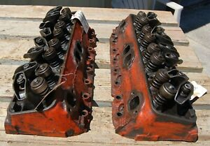 Pair Of 1962 1965 Oem Chevy Corvette Power Pack 327 V8 Cylinder Heads 3795896