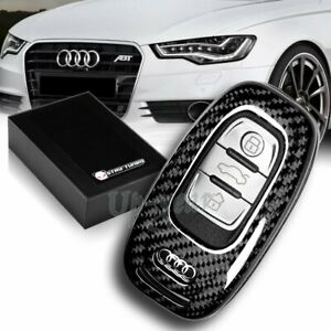 For Audi S3 S5 S6 R8 Tt Q3 Q5 100 Real Carbon Fiber Remote Key Shell Cover Case