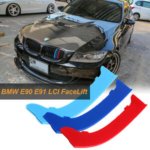 Front Grille Grill Cover Strips Clip Trim For Bmw 3 Series E90 Car Accessories