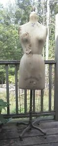 Antique Dress Form J r Bauman 10 Normal Model Collaps a Form 1969 W cage