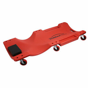 40 Inch Low Profile Red Creeper Garage Plastic Rolling Car Repair Mechanic Cart