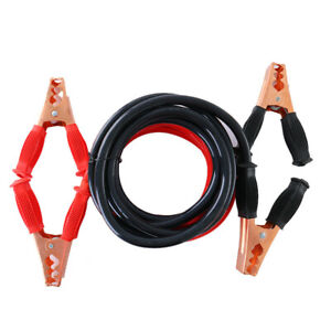 Heavy Duty 4 Gauge 10 Ft Battery Booster Cable Emergency Power Jumper 1000 Amp