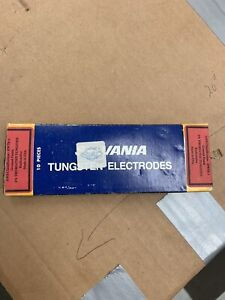 Sylvania Tig Welding Electrodes 2 Thoriated Tungsten 1 16 Red Made In Usa 10 pk