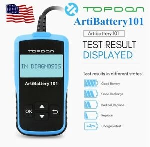 2020new Car Battery Tester Analyzer Cranking Charging Test 12volt Cca100 2000
