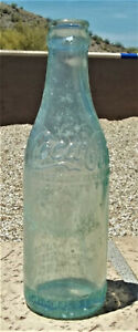c1900's RARE !! Coca Cola Straight Sided GREEN Script Logo Crown Top Bottle CHAR