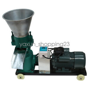 8mm Chicken Feed Machine Pellet Mill Equipment Cornstalk Grinder 220v 4hp
