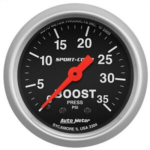 Autometer 3304 Sport comp Mechanical Boost Gauge