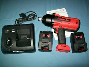 New Snap On Lithium Ion Ct9100 18v 18 Volt Cordless 3 4 Impact Wrench Gun