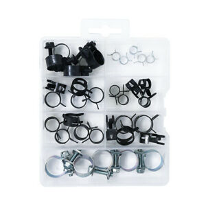 Assorted Corbin Clamps Fuel Injection Hose Clamps Assortment Kit 35 Pcs