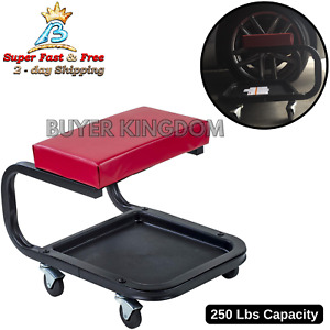 Rolling Seat Mechanic Stool Chair Repair Tools Storage Tray Shop Auto Car Garage