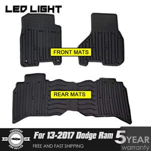 Liners For 2013 17 Dodge Ram Truck Crew Cab Floor Mats Set Fit Any Beater