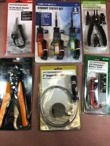 Lot Of Automotive Electrical Tools Testers Strippers Snap Ring Pliers All New