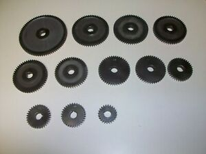 South Bend 9 lathe Change Gear Set 24 80 Teeth 9 16 Bore 3 8 Wide