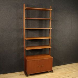 Bookcase Bookshelf Furniture Cabinet Design In Wood Vintage Modern Living Room