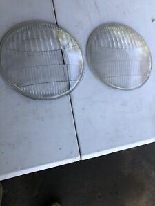 1935 39 Ford Puckup Truck Headlight Lenses Pair Twolite