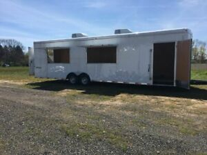 Diy 8 X 30 Unfinished 2016 Homesteader Hercules Food Concession Trailer For S