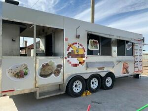 Very Spacious 2018 8 X 24 Mobile Kitchen Food Concession Trailer With Porch
