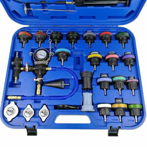 28 Pcs Coolant Vacuum Type Pressure Tester Adapters Radiator Kit Cooling System