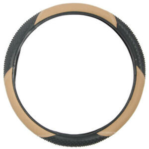 Carxs Sports Grip Leather Steering Wheel Cover Standard Size 14 5 15 5
