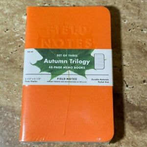 Field Notes Autumn Trilogy Brand New Sealed Fall 2019 Fnc 44