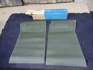 1974 1975 1976 Ford Torino Nos Front Floor Mats Original Fomoco Dark Green