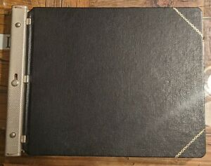 Vintage Black Rogers Ledger Accounting Bookkeeping Book W Wilson Jones Paper