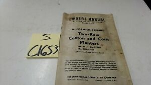 Mccormick deering No 20 20d Two Row Cotton Corn Planters 9 1 44