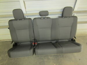17 19 Ford F 250 F 350 Super Duty Extended Cab Gray Cloth Rear Bench Seat