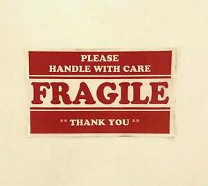 10 Roll 3 X 5 Fragile Handle With Care Stickers 500 Per Roll