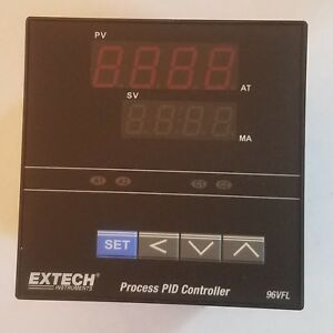 Extech 1 4 Din Temperature Pid Controller 96vfl11 two Relay Outputs New
