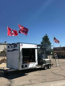 Ready To Grill Barbecue Concession Tailgating Trailer With Porch For Sale In Col