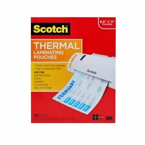 Scotch Tp3854100 Letter Size Thermal Laminating Pouches 3 Mil 11 1 2 X 9 100