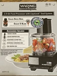 Commercial Warning Wfp11s 2 5 Qt Food Processor With Liquilock Seal System