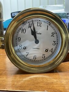 Vintage Chelsea Boston Shipstrike Clock Bell 6 With Key