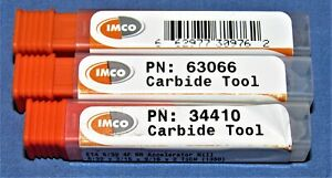 Lot 3 New Imco Carbide End Mills Altin Coated