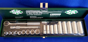 Sk Prof Tools 4521 3 8 Drive Socket Wrench Set Sae 21 Pcs6 poin Std deep Well